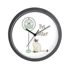 Pet Sitter Wall Clock