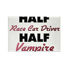 Half Race Car Driver Half Vampire Magnets