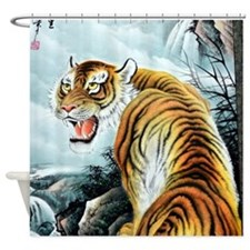 Chinese Tiger Shower Curtain