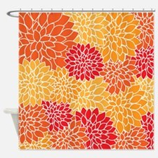 Dahlia Shower Curtains Dahlia Fabric Shower Curtain Liner