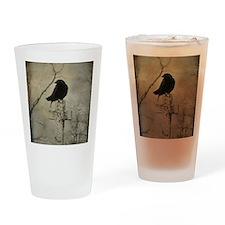 Halloween Crow Drinking Glass