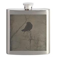 Halloween Crow Flask