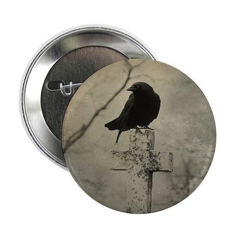 "Halloween Crow 2.25"" Button"