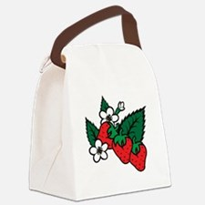Strawberries Canvas Lunch Bag