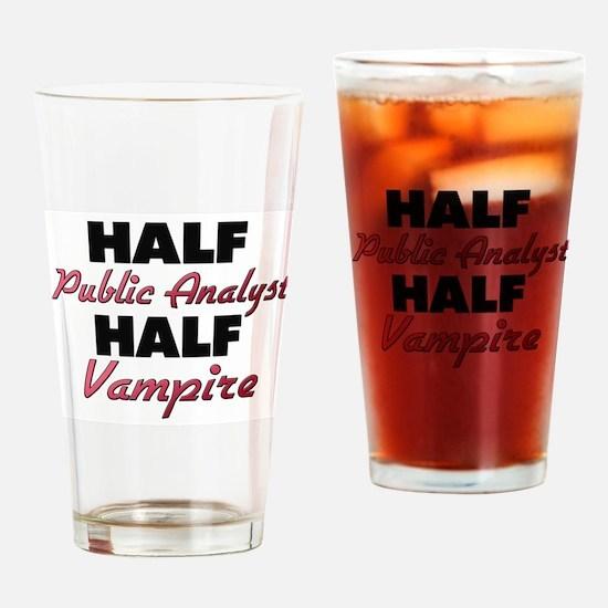 Half Public Analyst Half Vampire Drinking Glass