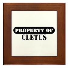 Property of Cletus Framed Tile