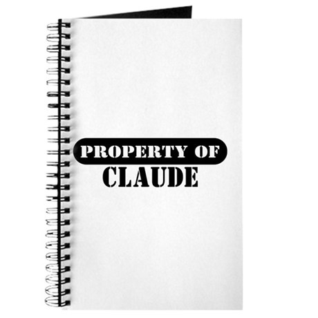 Property of Claude Journal