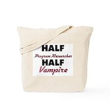 Half Program Researcher Half Vampire Tote Bag