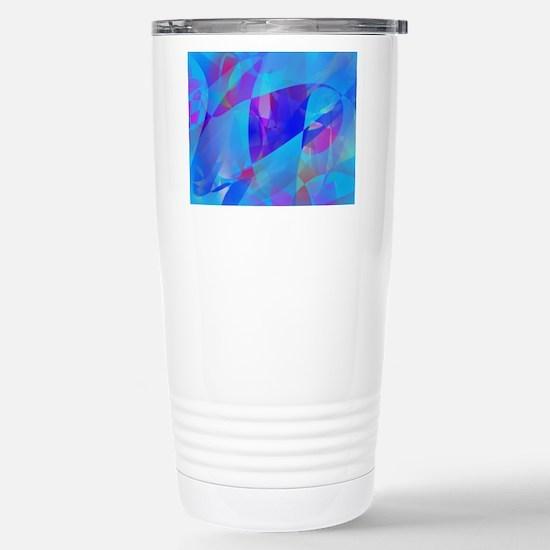 Blue Plankton Art Travel Mug