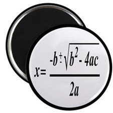 The Quadratic Formula Awesome Math Magnet