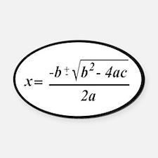 The Quadratic Formula Awesome Math Oval Car Magnet