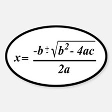The Quadratic Formula Awesome Math Decal