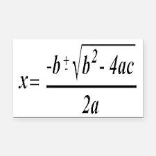 The Quadratic Formula Awesome Math Rectangle Car M