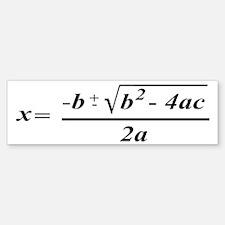 The Quadratic Formula Awesome Math Bumper Bumper Sticker
