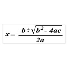 The Quadratic Formula Awesome Math Bumper Sticker