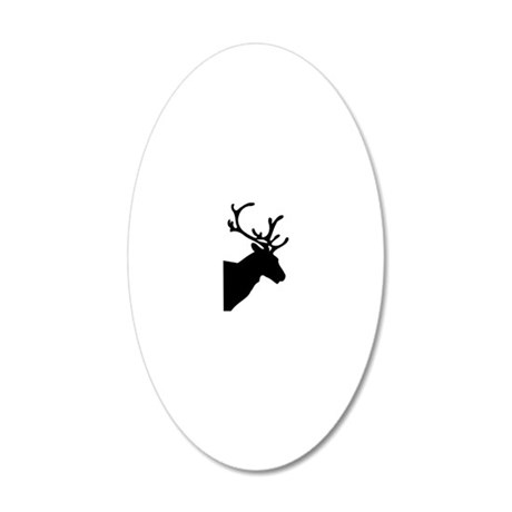 Reindeer Christmas 20x12 Oval Wall Decal