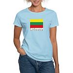 Lithuania Women's Pink T-Shirt