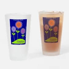 Hospice Blanket Flowers Drinking Glass