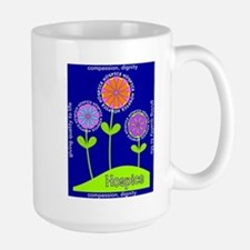 Hospice Blanket Flowers Mugs