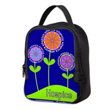 Hospice Blanket Flowers Neoprene Lunch Bag