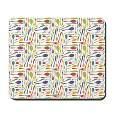 Fork and Knives Kitchen Chef Pattern Mousepad