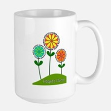 Hospice Nurse Flowers Mugs