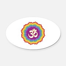 Seven Chakras Colors Oval Car Magnet