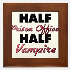 Half Prison Officer Half Vampire Framed Tile