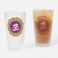 Seven Chakras Colors Drinking Glass
