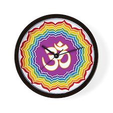 Seven Chakras Colors Wall Clock
