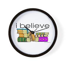 I believe in books Wall Clock