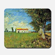 Van Gogh: Farmhouse in Wheatfield, 1888 Mousepad
