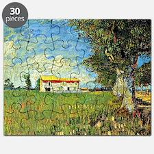 Van Gogh: Farmhouse in Wheatfield, 1888 Puzzle