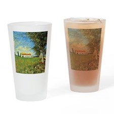 Van Gogh: Farmhouse in Wheatfield,  Drinking Glass