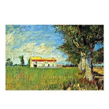 Van Gogh: Farmhouse in Wh Postcards (Package of 8)