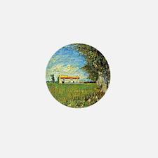 Van Gogh: Farmhouse in Wheatfield, 188 Mini Button
