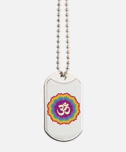 Seven Chakras Colors Dog Tags