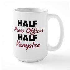 Half Press Officer Half Vampire Mugs