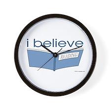 I believe in reading Wall Clock