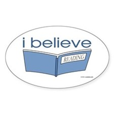 I believe in reading Oval Decal