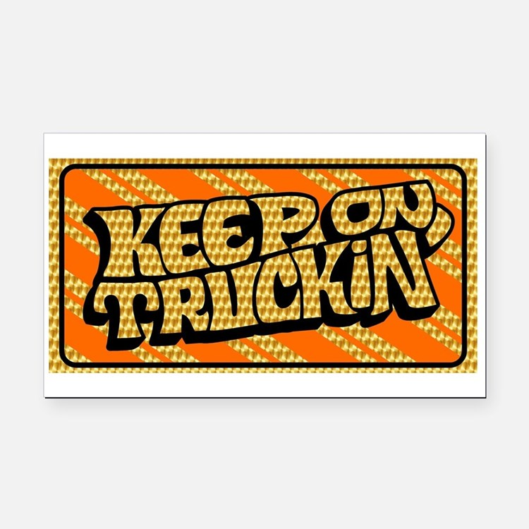 Keep on Truckin' retro design Rectangle Car Magnet
