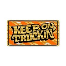 Keep on Truckin' retro desi Aluminum License Plate