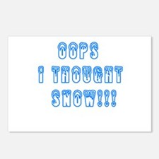 Oops I Thought Snow Postcards (Package of 8)