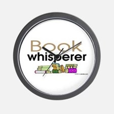 Book Whisperer Wall Clock