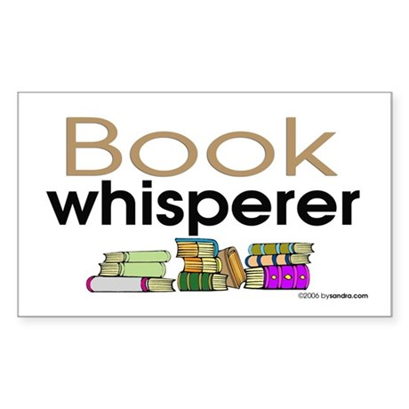 Book Whisperer Rectangle Sticker