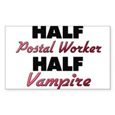 Half Postal Worker Half Vampire Decal
