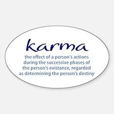 Karma Sticker (Oval)