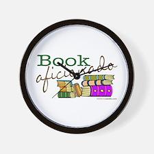 Book Aficionado Wall Clock