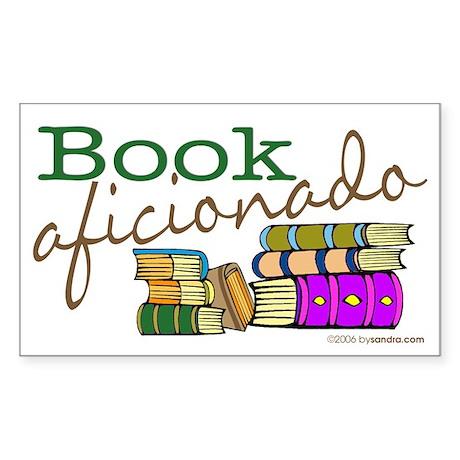 Book Aficionado Rectangle Sticker