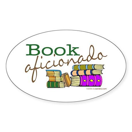 Book Aficionado Oval Sticker